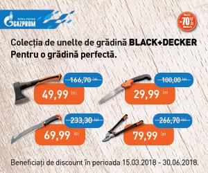 Gazprom Black + Decker unelte de grădinărit